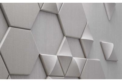 Xorel Linen Wallcovering and Xorel Artform Hex, Diamond 3D